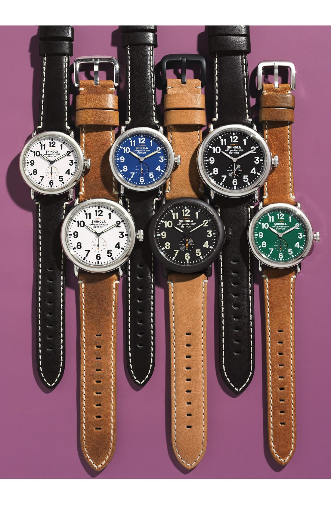 Alternate Image 5  - Shinola 'The Runwell' Leather Strap Watch, 47mm