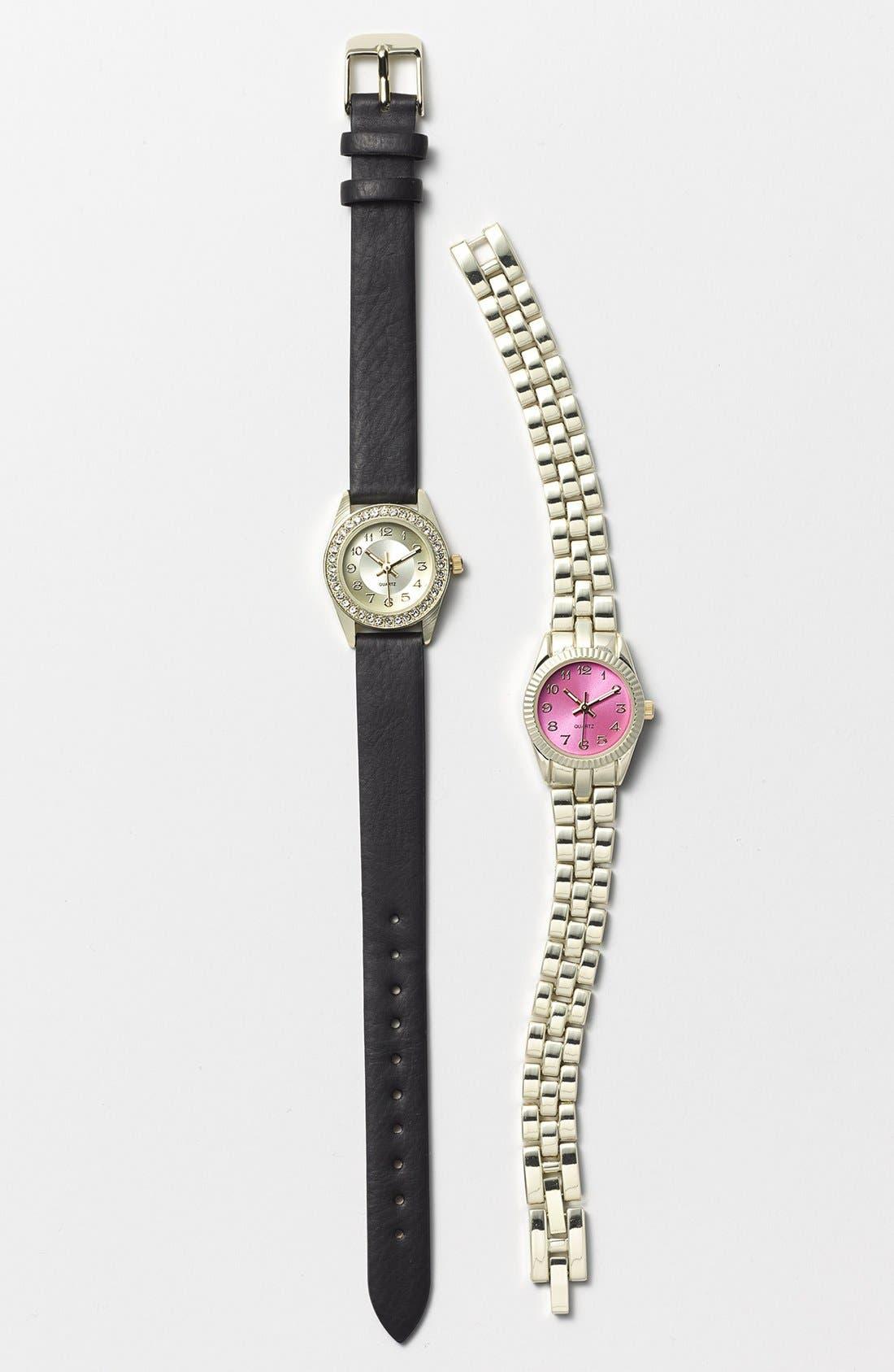 Alternate Image 2  - Titanium Color Dial Bracelet Watch, 22mm (Juniors) (Online Only)
