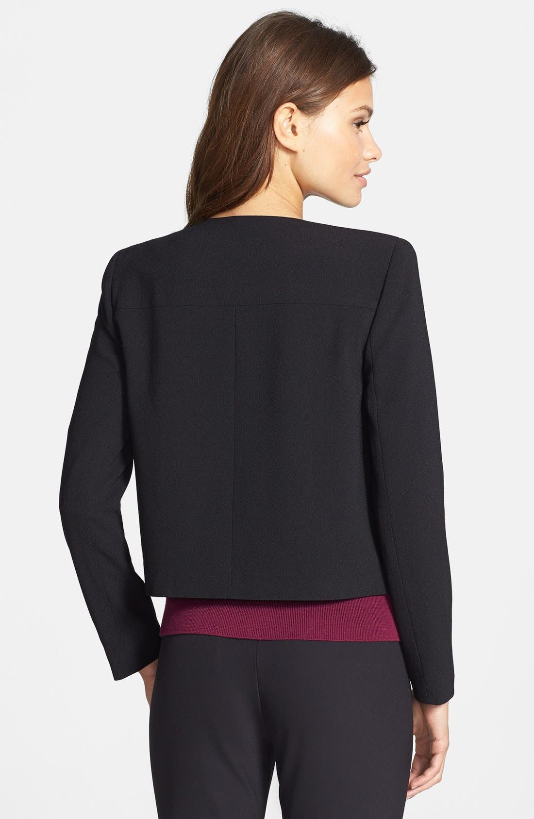 Alternate Image 2  - Kenneth Cole New York 'Peggy' Layered Front Zip Jacket (Petite)
