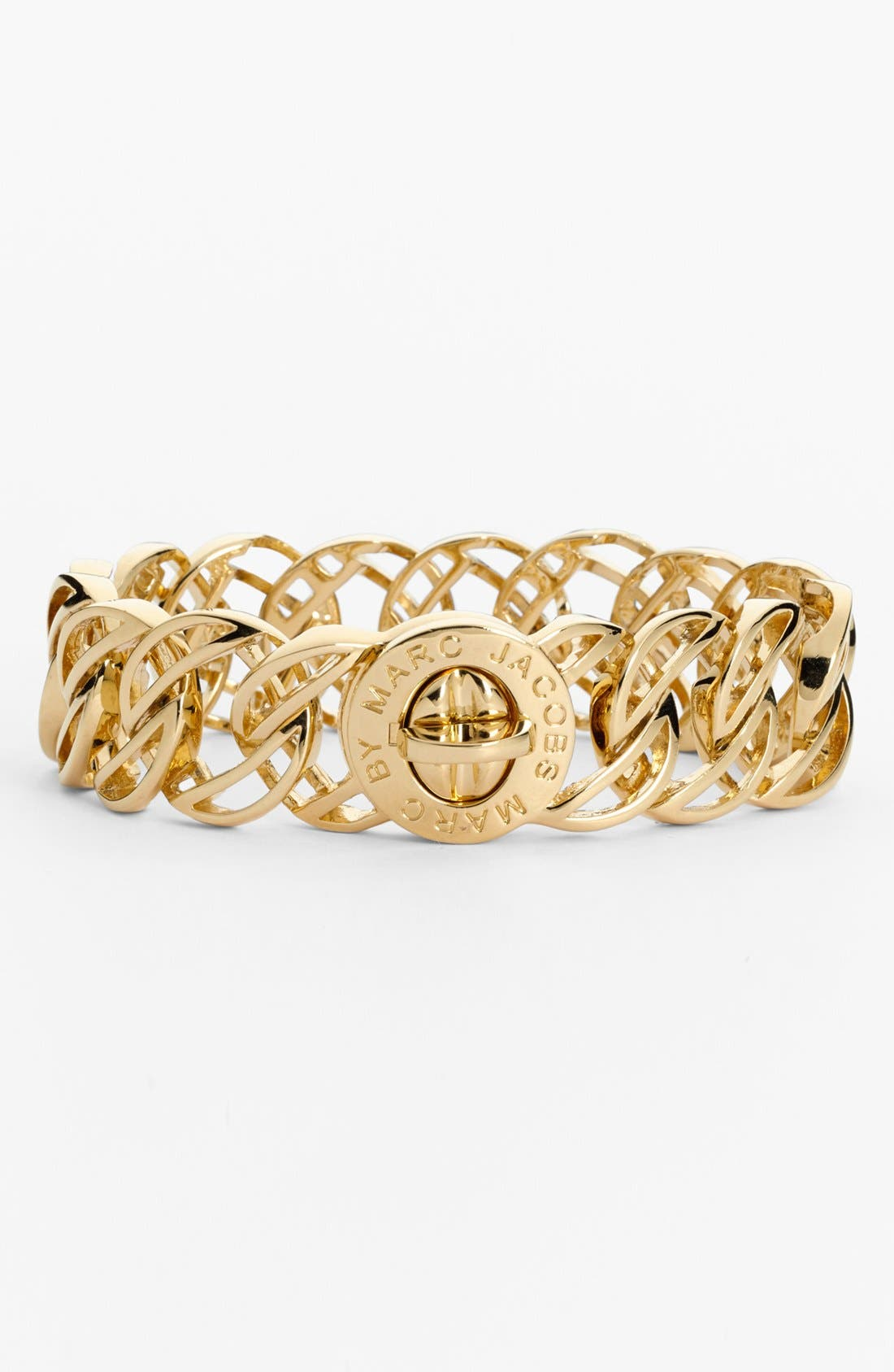 'Katie - Large Skeleton' Turnlock Bracelet,                         Main,                         color, Gold
