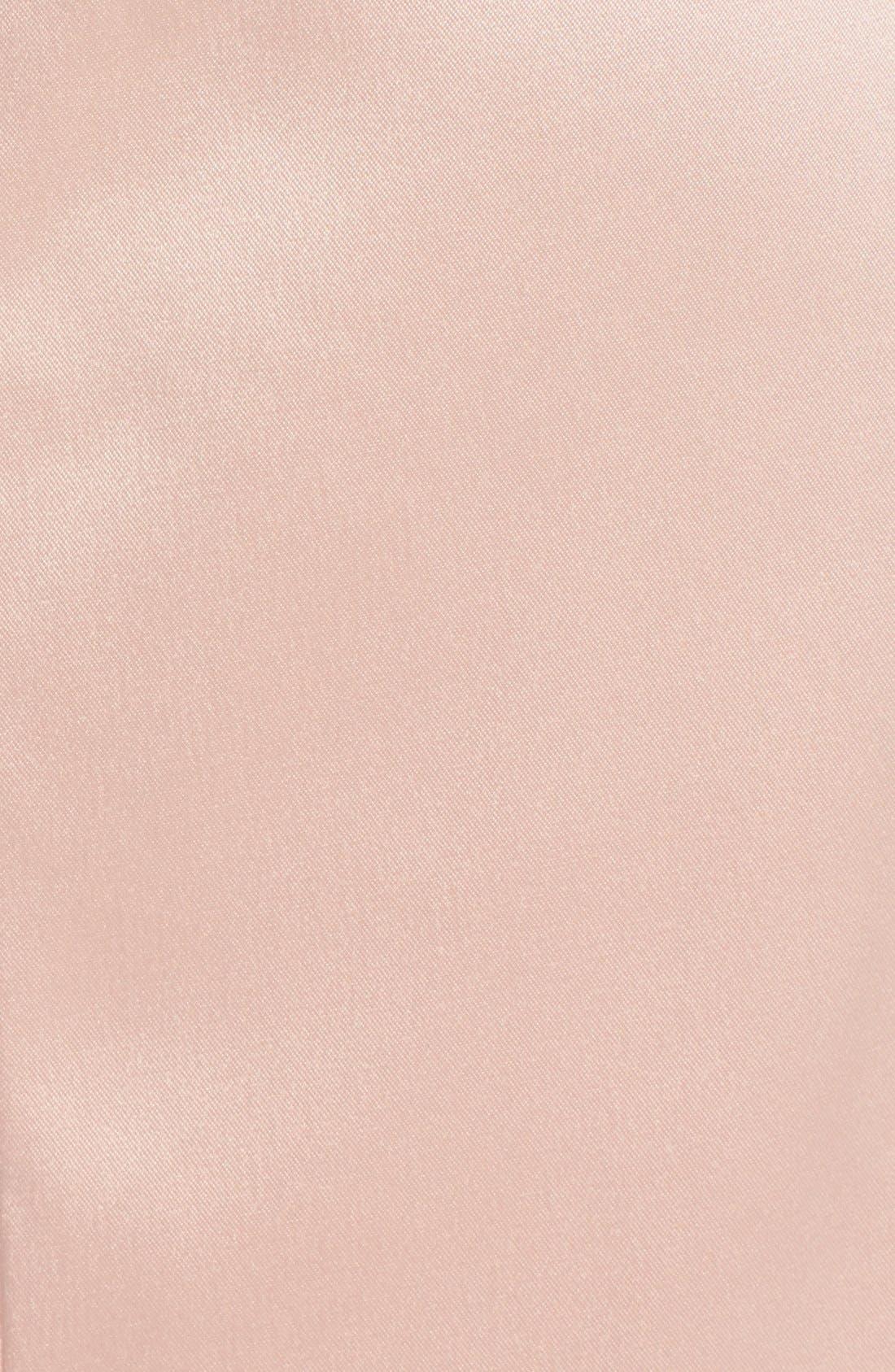 Alternate Image 3  - Vince Camuto Rhinestone Embellished Stretch Satin Sheath Dress