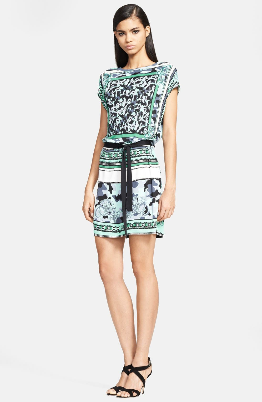 Main Image - Versace Collection 'Camo Barocco' Print Jersey Dress