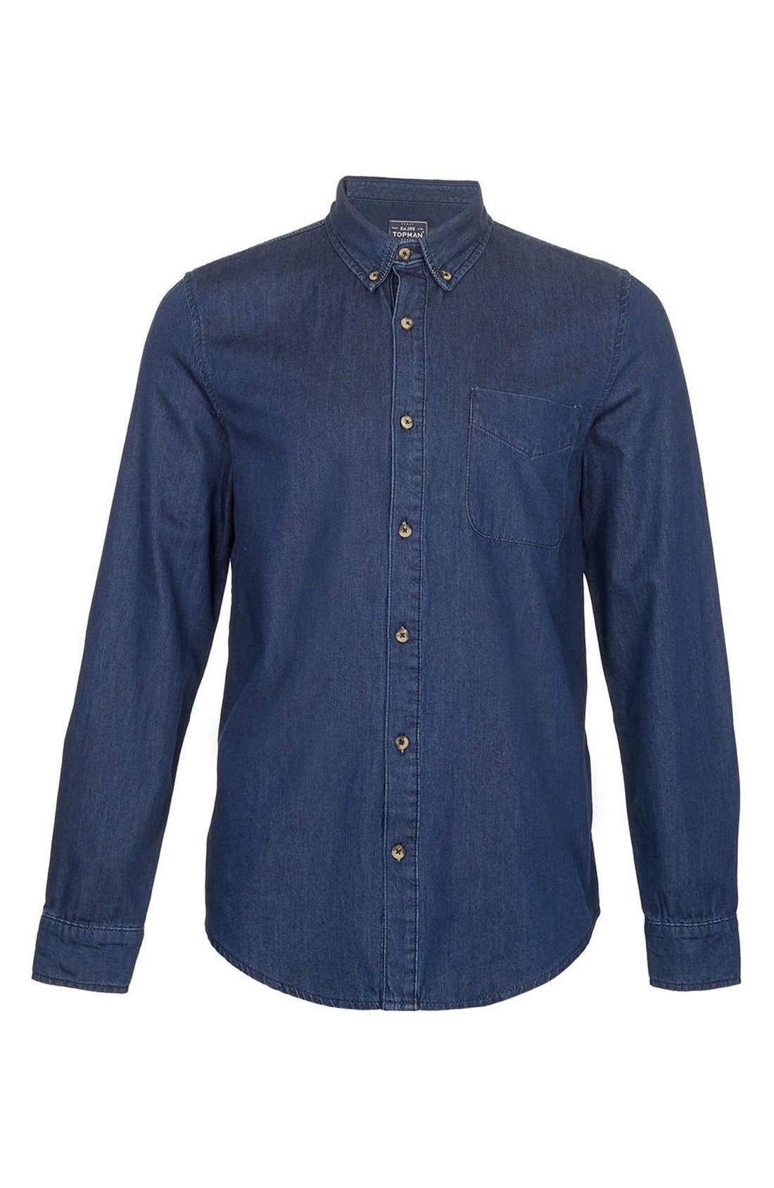 Alternate Image 1 Selected - Topman Denim Shirt