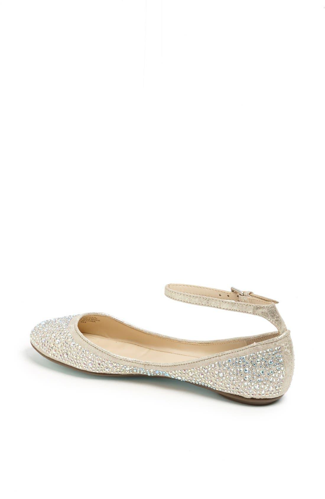 Alternate Image 2  - Betsey Johnson 'Joy' Ankle Strap Crystal Embellished Flat