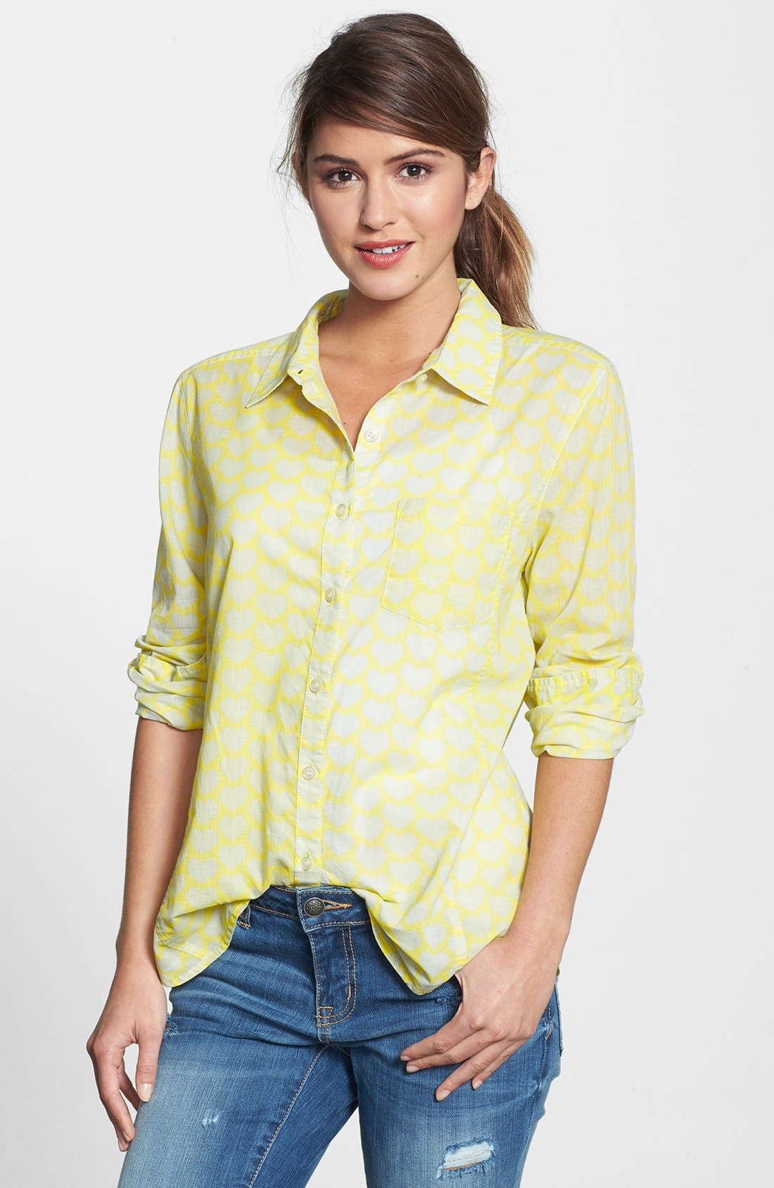 Main Image - Caslon® Cotton Blend Blouse