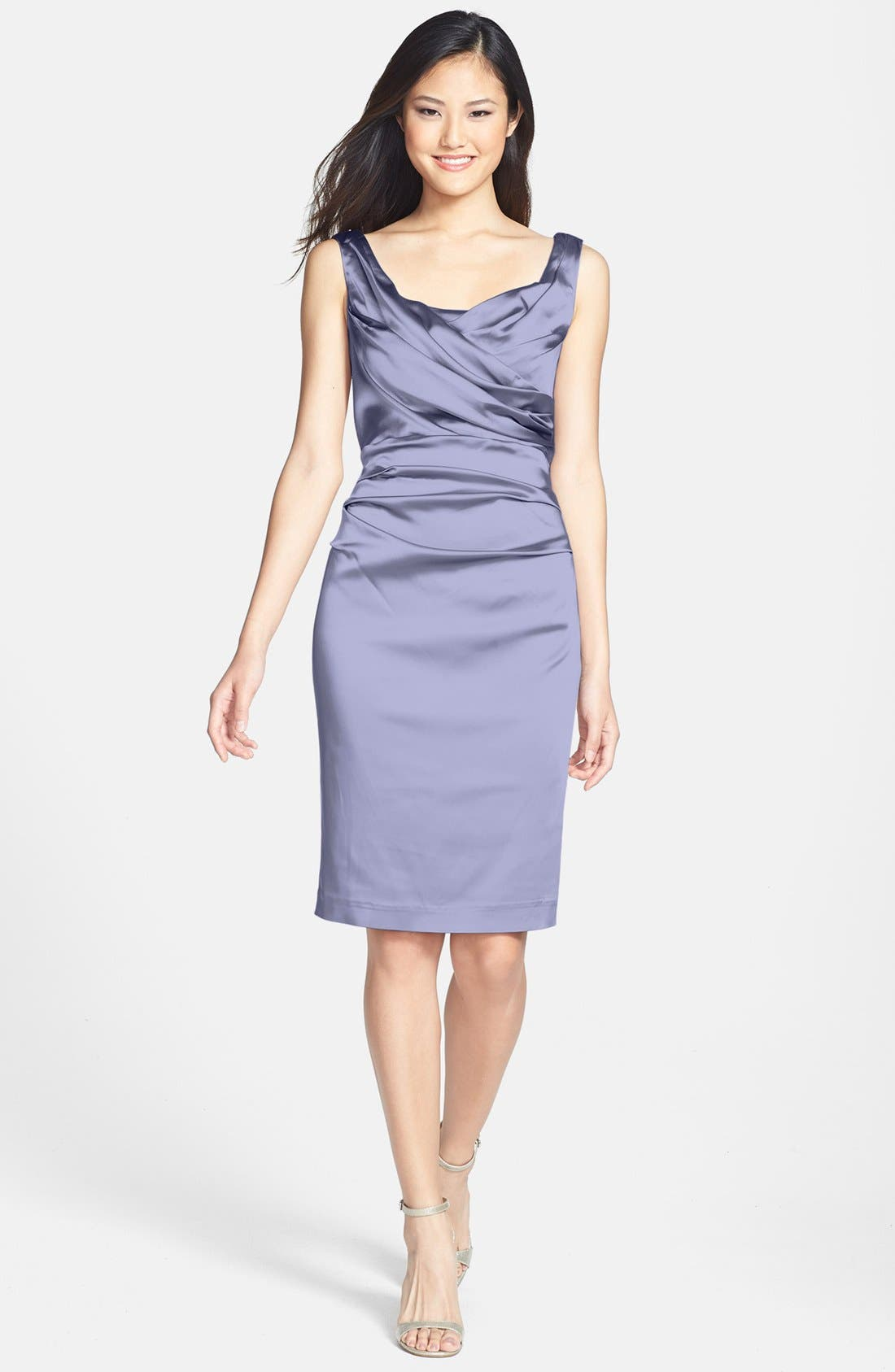 Alternate Image 1 Selected - Ivy & Blu Ruched Stretch Satin Sheath Dress