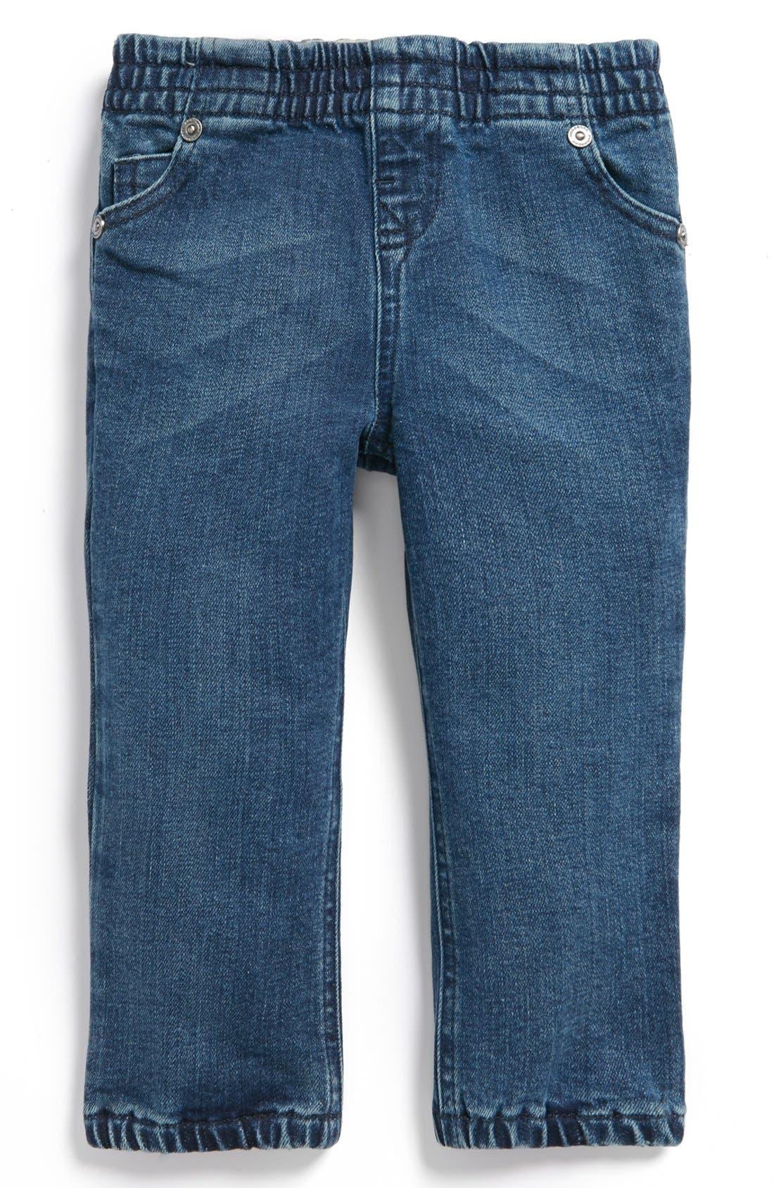 Alternate Image 2  - Burberry Denim Pants (Toddler Girls)