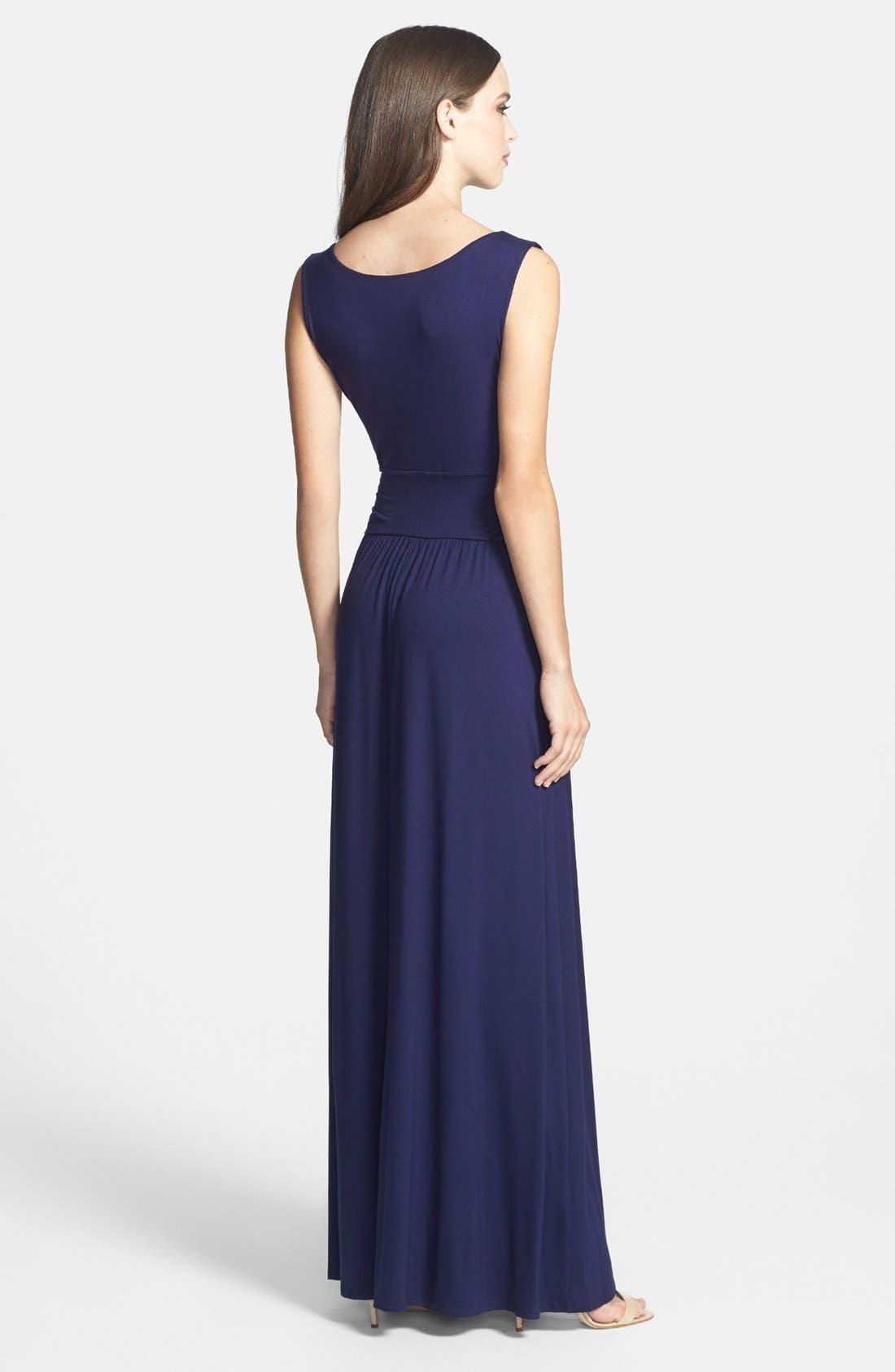 Alternate Image 2  - Three Dots V-Neck Jersey Maxi Dress