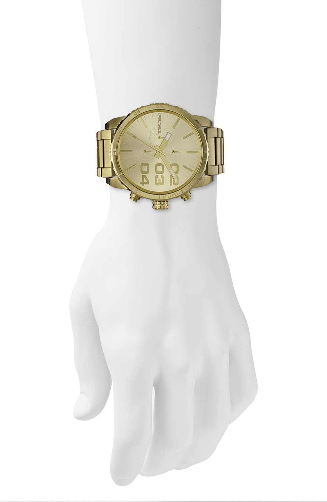 Alternate Image 4  - DIESEL® 'Double Down' Large Chronograph Bracelet Watch, 52mm