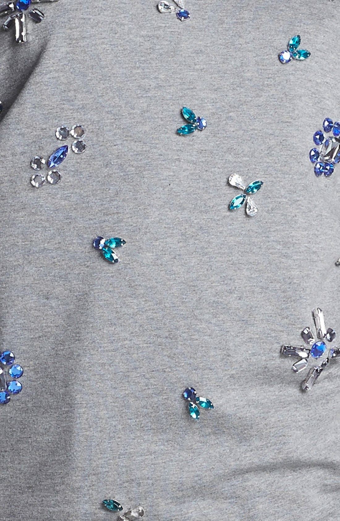 Alternate Image 3  - Two by Vince Camuto Jeweled Baseball Sweatshirt