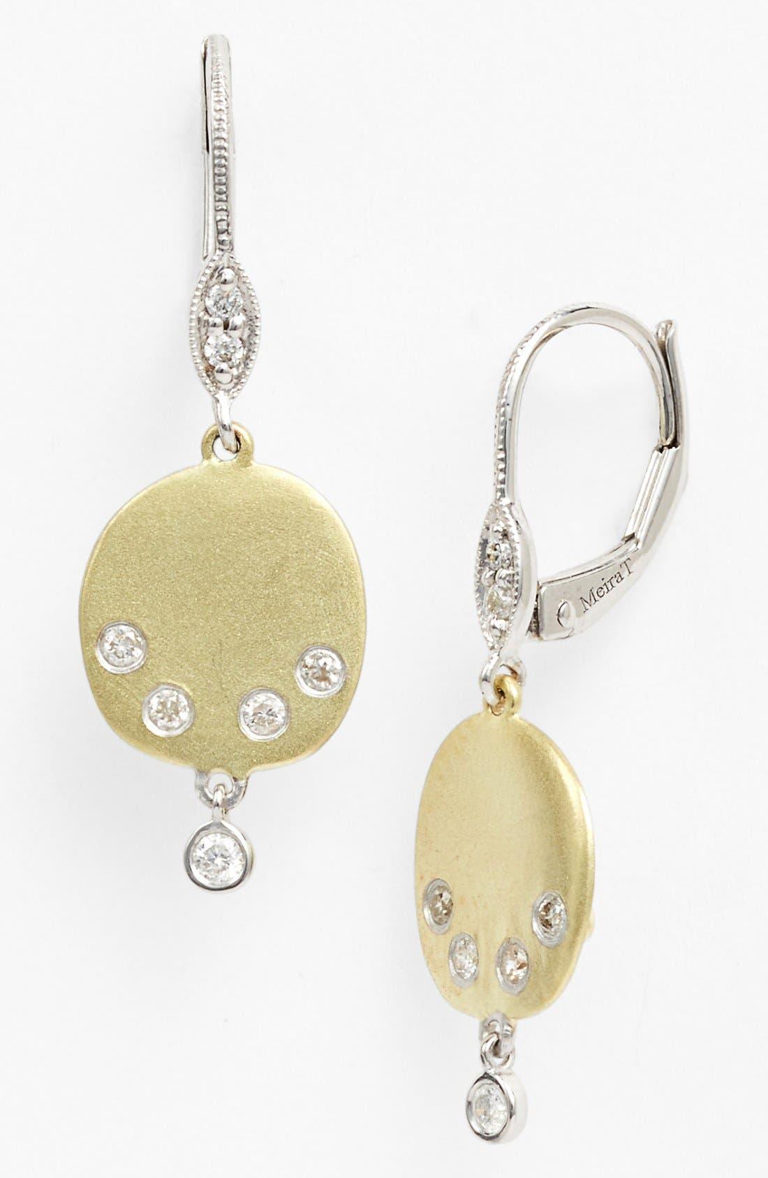 Alternate Image 1 Selected - MeiraT 'Charmed' Diamond Drop Earrings