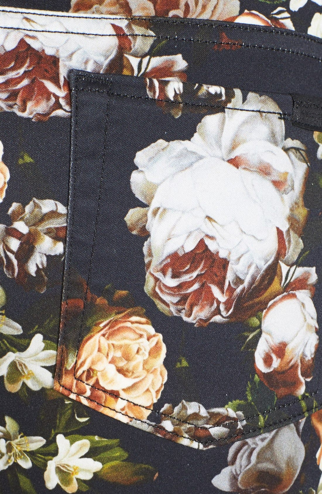 Alternate Image 3  - 7 For All Mankind® 'The Skinny' Floral Pattern Jeans (Nighttime Floral)