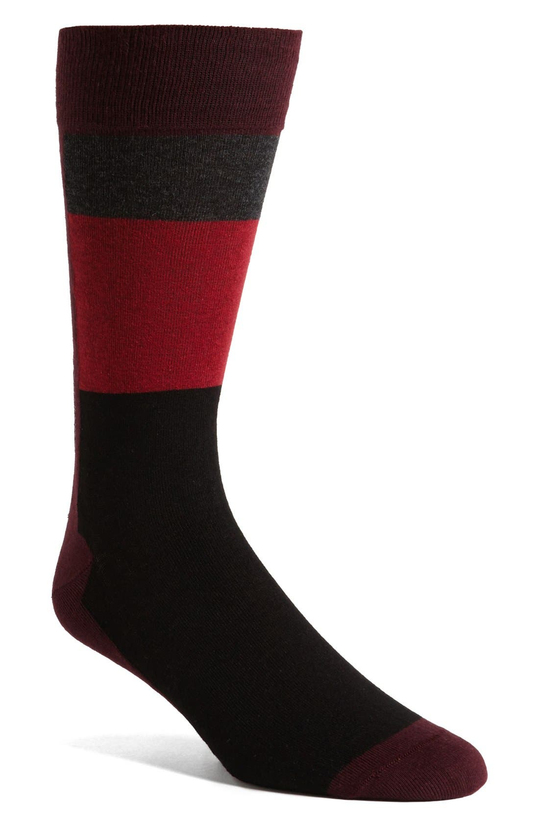 Alternate Image 1 Selected - Calvin Klein Colorblock Socks