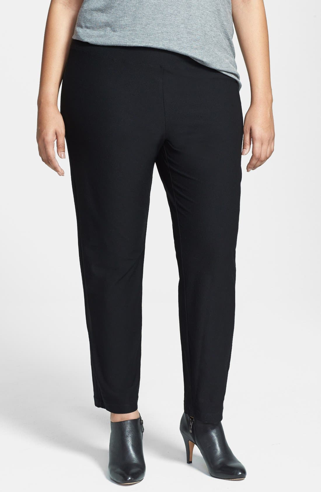 Eileen Fisher Crepe Ankle Pants (Plus Size)