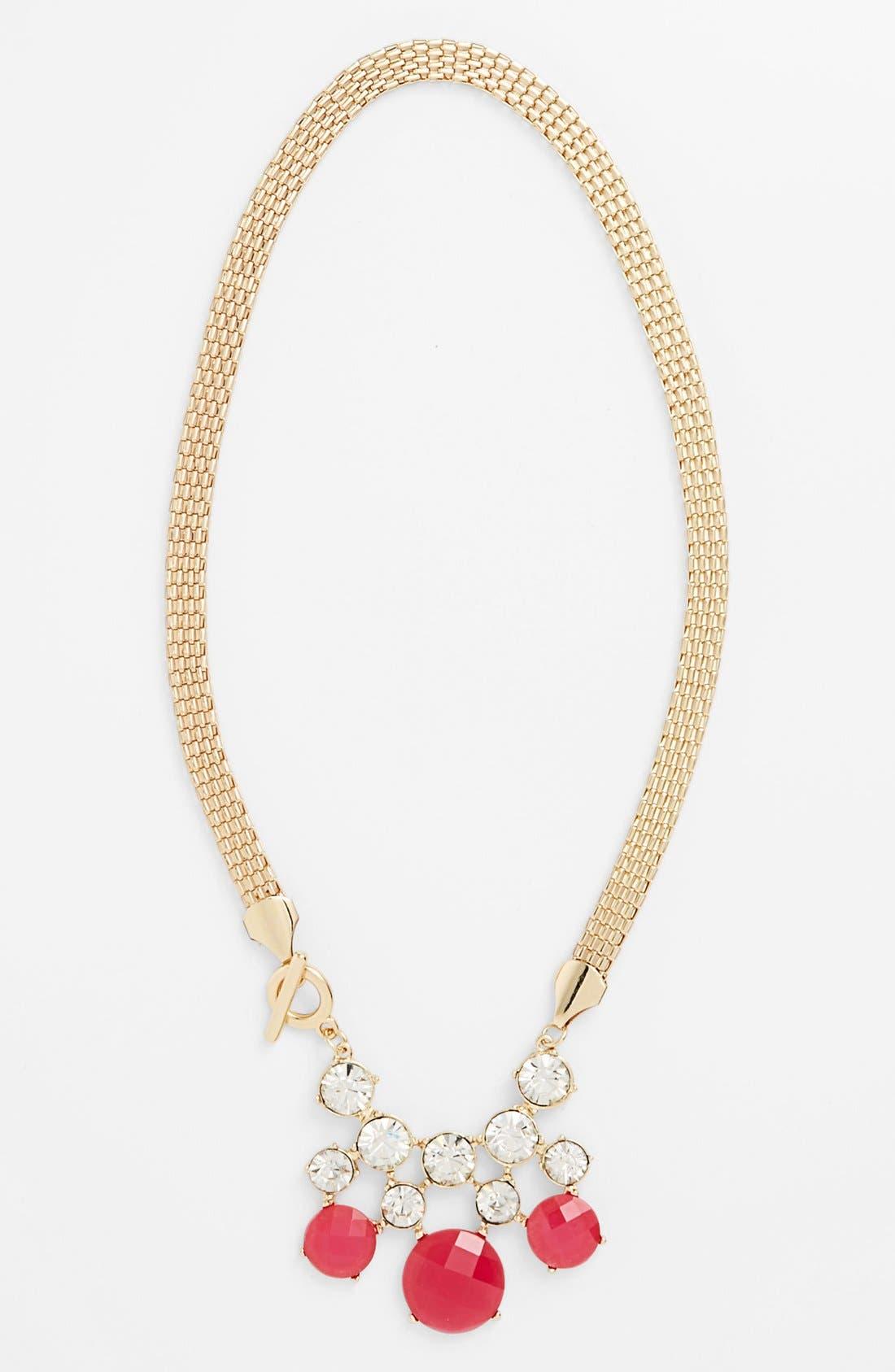 Alternate Image 1 Selected - Tildon Crystal Stone Drop Necklace