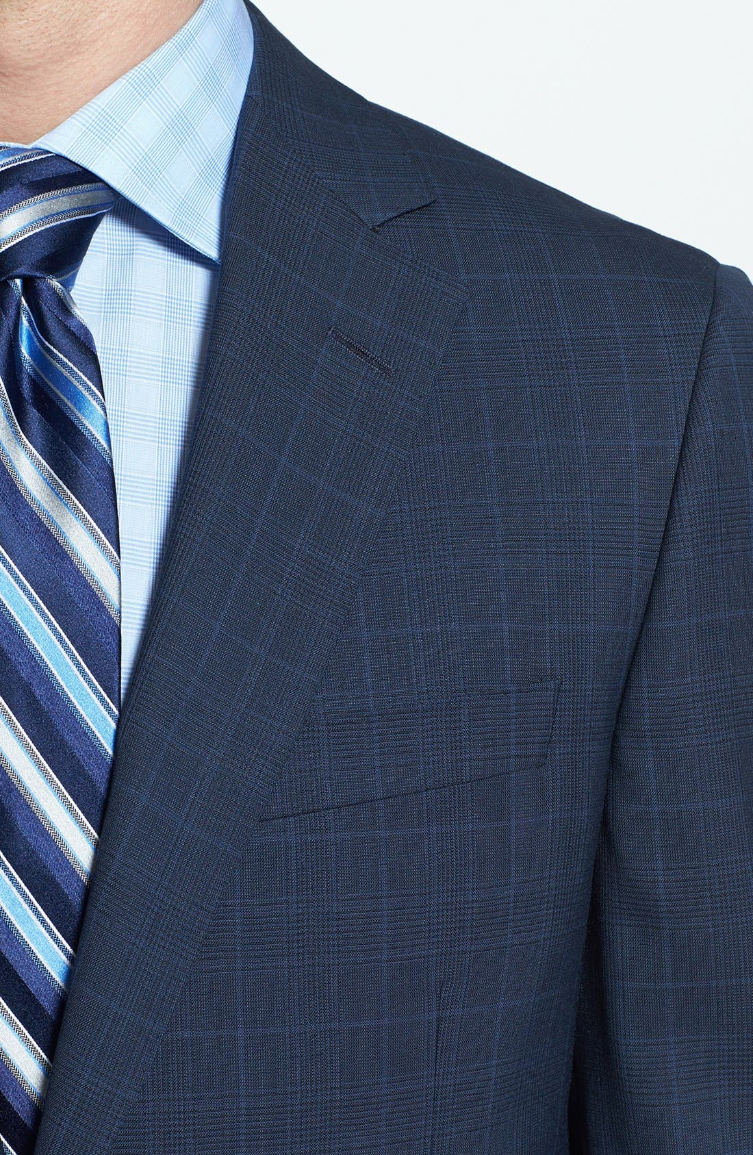 Alternate Image 5  - Samuelsohn Classic Fit Plaid Suit