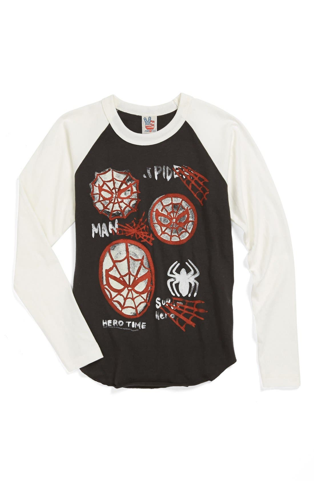 Alternate Image 1 Selected - Junk Food 'Spider-Man' Baseball T-Shirt (Little Boys & Big Boys)