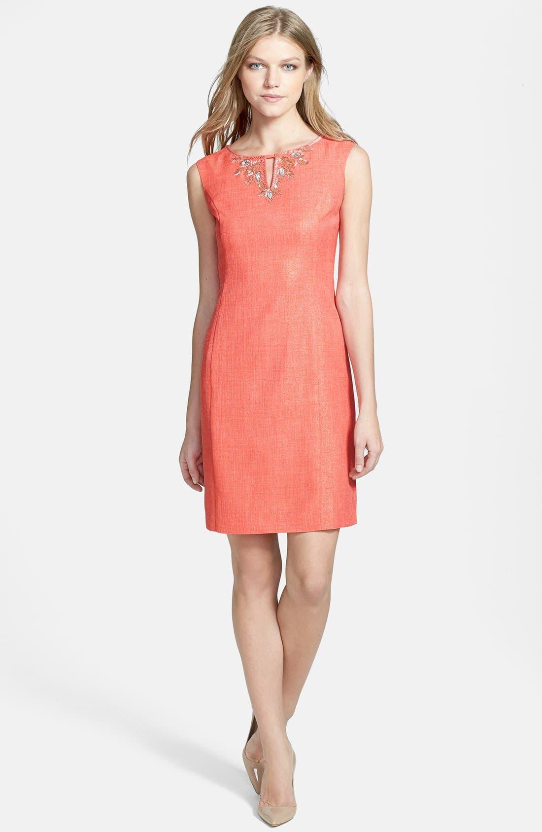 Alternate Image 2  - Ellen Tracy Foiled Sheath Dress