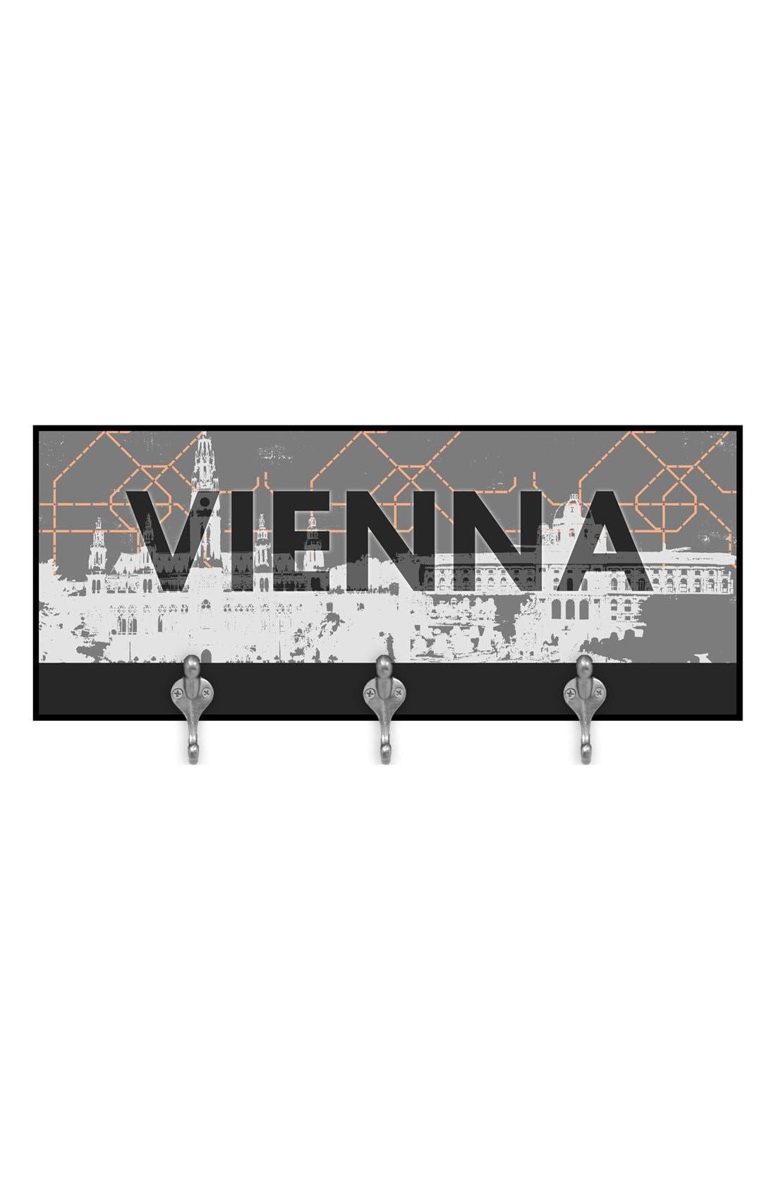 Main Image - Green Leaf Art 'Vienna' Multi Hook Wall Mount Rack