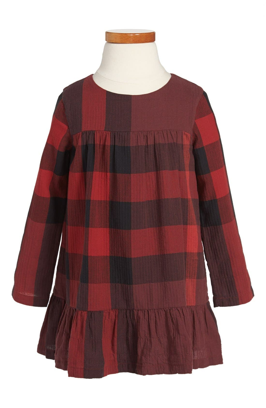 Alternate Image 1 Selected - Burberry 'Idina' Woven Dress (Baby Girls)