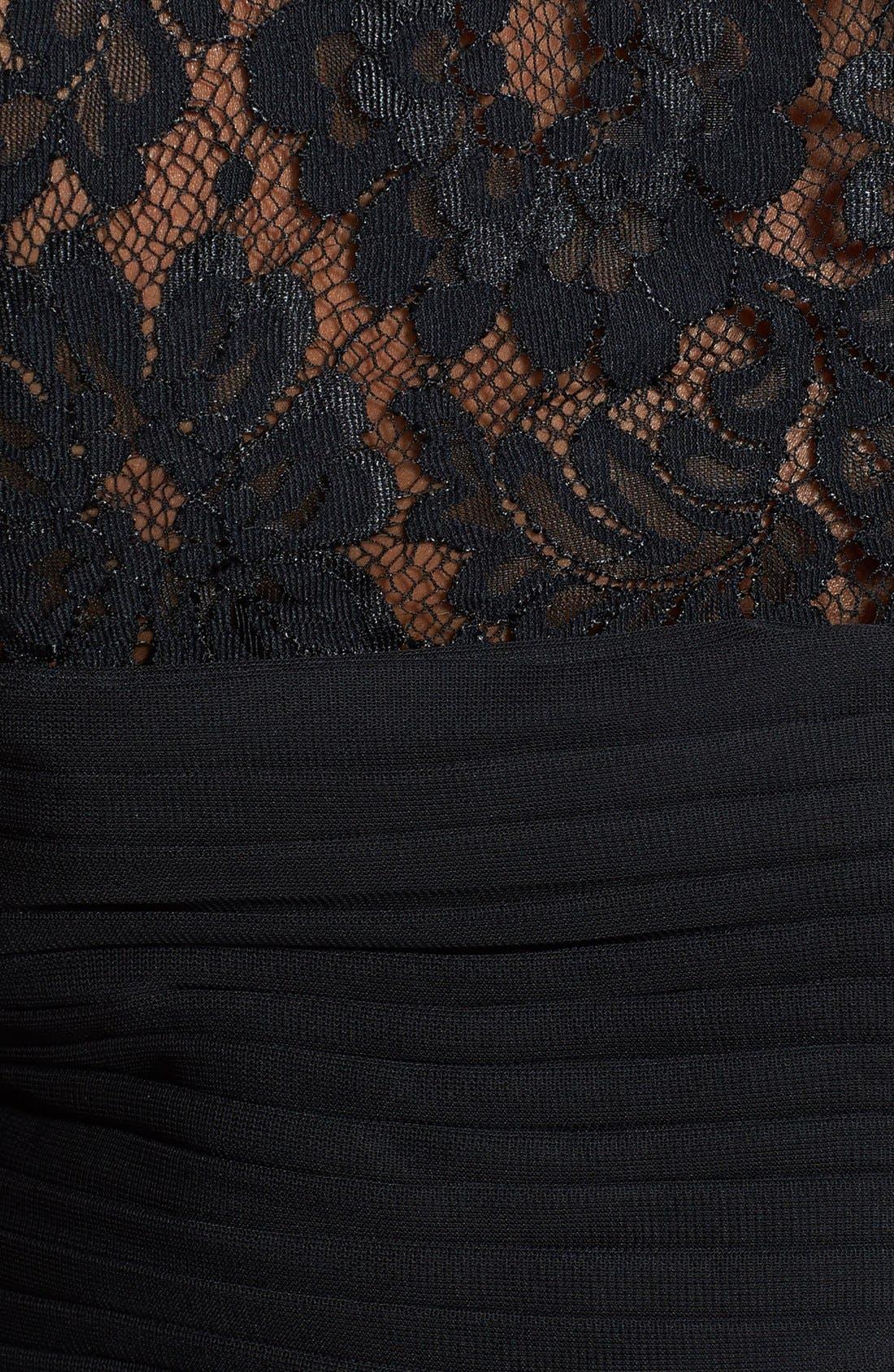 Alternate Image 3  - Xscape Embellished Chiffon & Knit Gown (Plus Size)