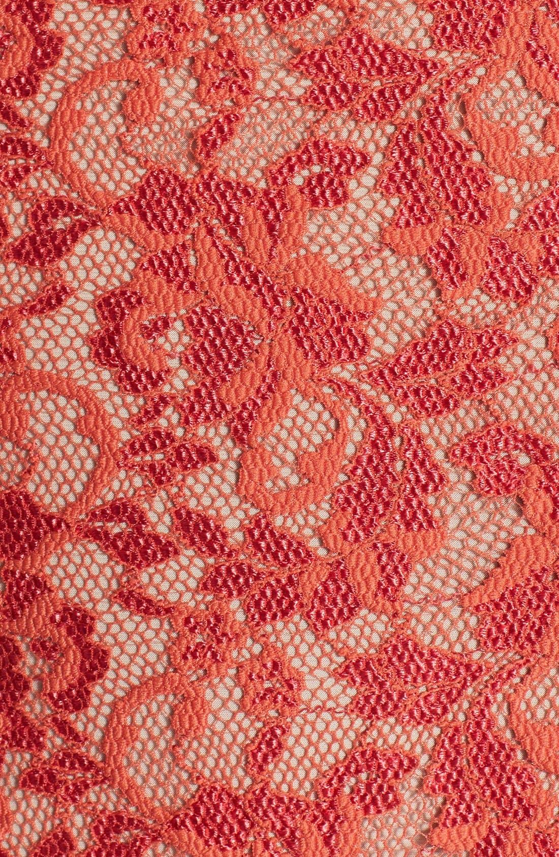 Alternate Image 3  - ABS by Allen Schwartz Lace Fit & Flare Dress (Plus Size)