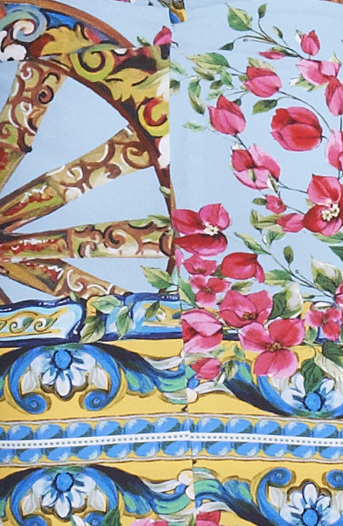 Alternate Image 3  - Dolce&Gabbana Bougainvillea Print Dress