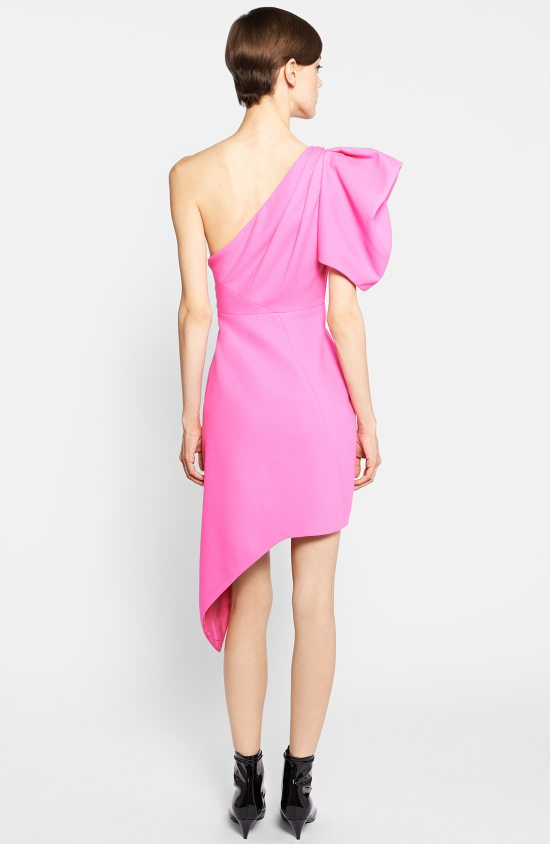Alternate Image 2  - Saint Laurent Puffed One-Shoulder Dress