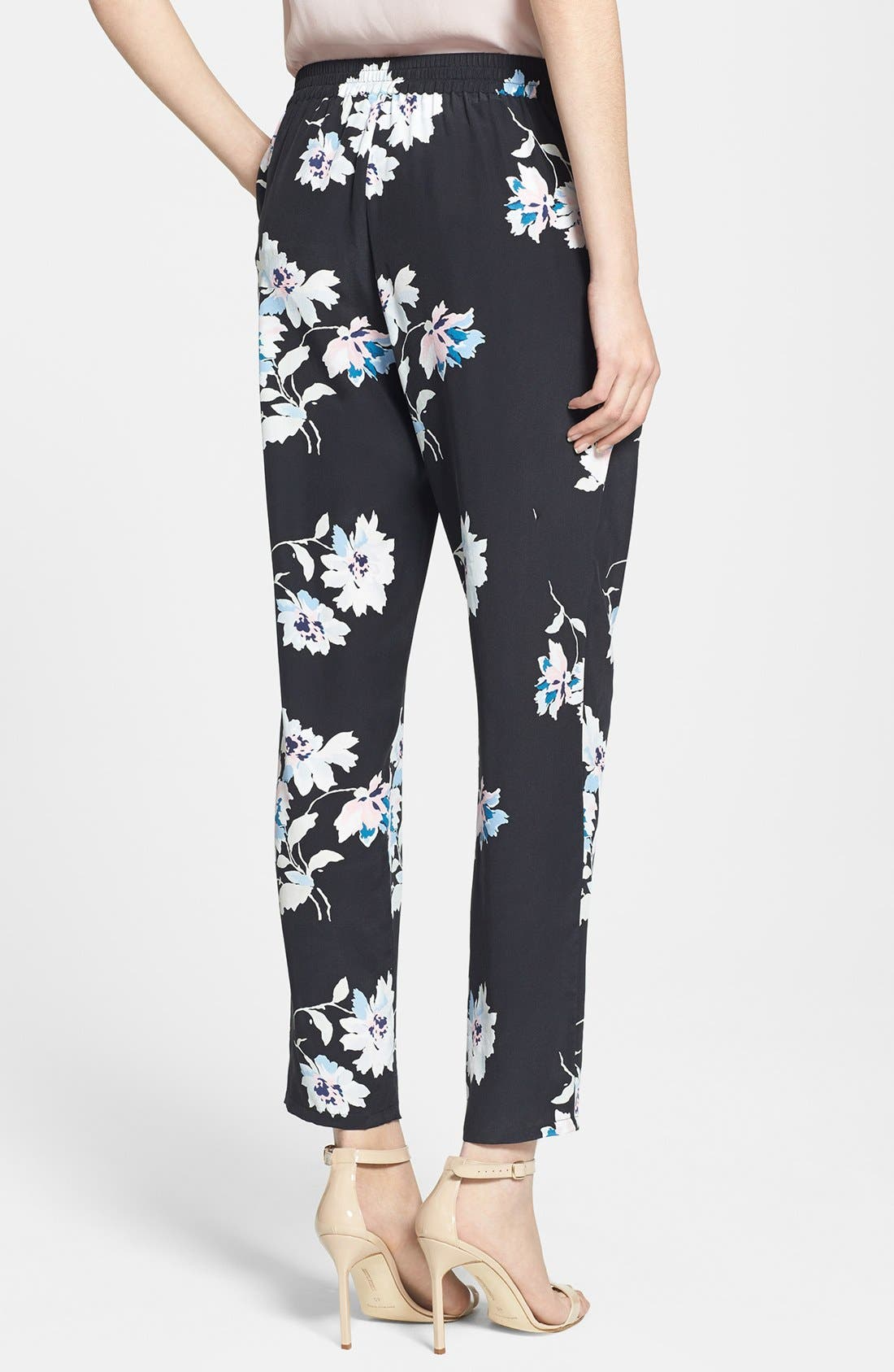Alternate Image 2  - Joie 'Talina B' Floral Print Silk Pants