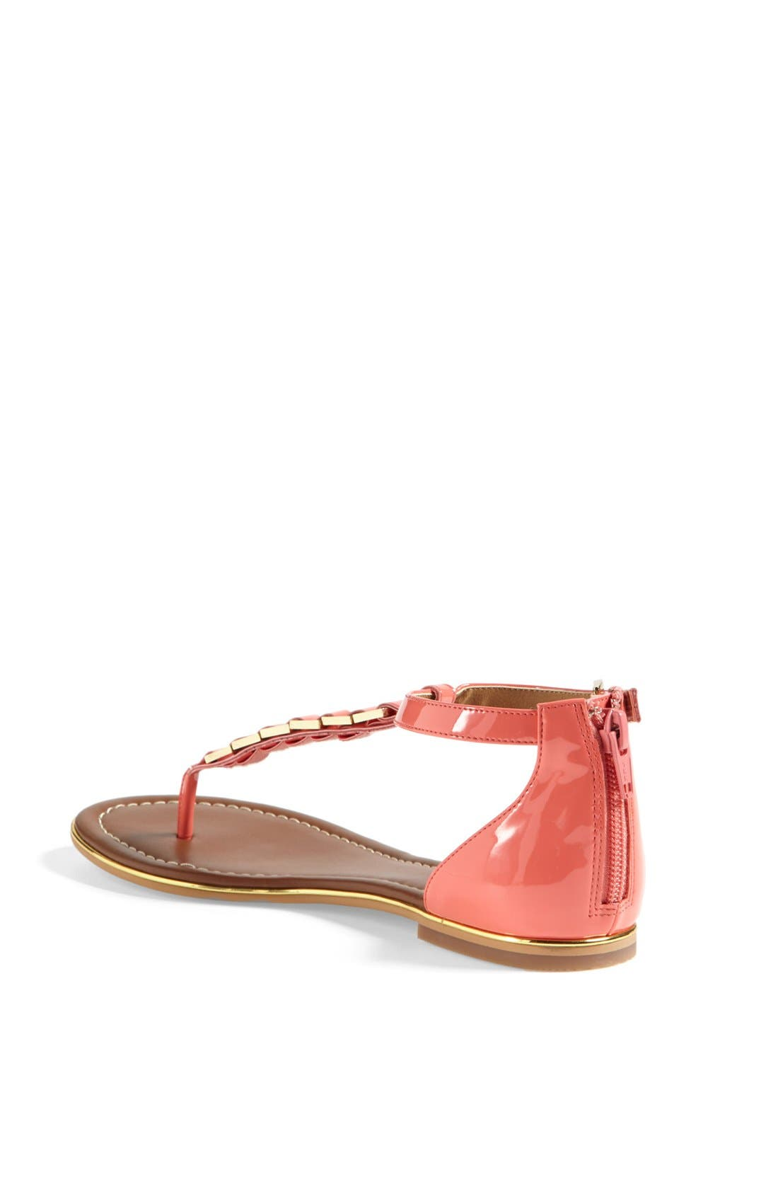 'Bonsai' Sandal,                             Alternate thumbnail 2, color,                             Coral Patent