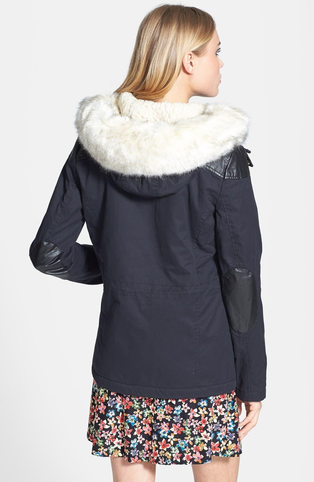 Alternate Image 2  - Topshop Faux Fur Trim Parka