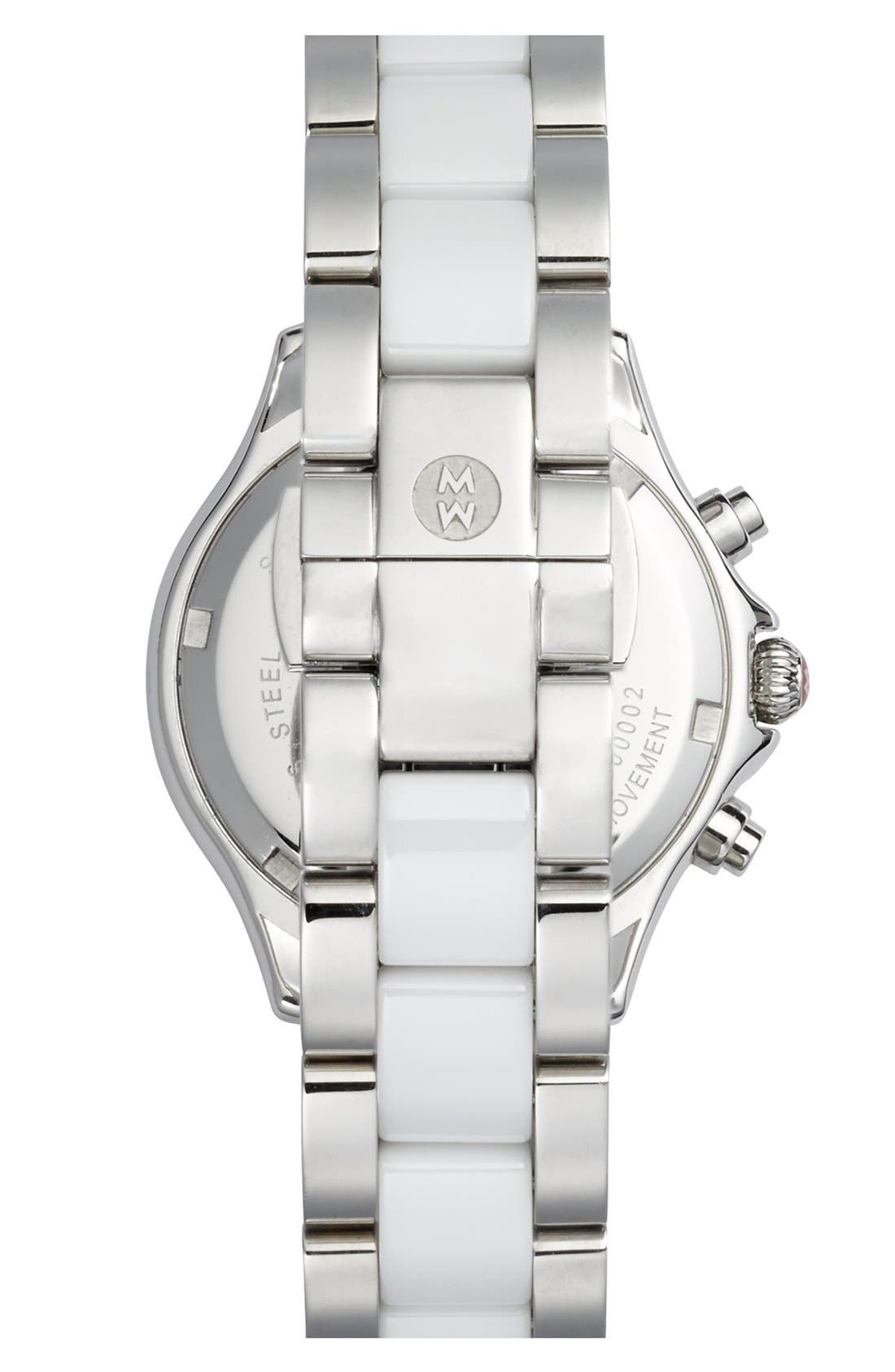 Alternate Image 2  - MICHELE 'Tahitian Diamond' Ceramic Bracelet Watch, 35mm
