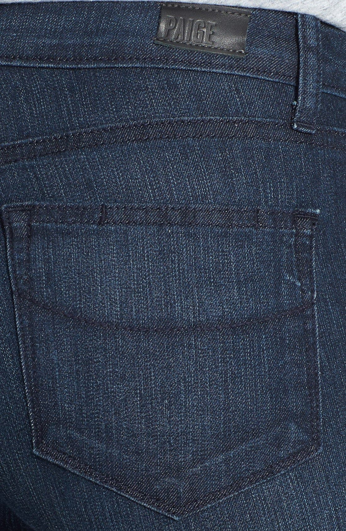 Alternate Image 3  - Paige Denim 'Skyline' Straight Leg Jeans (Manchester) (Petite)