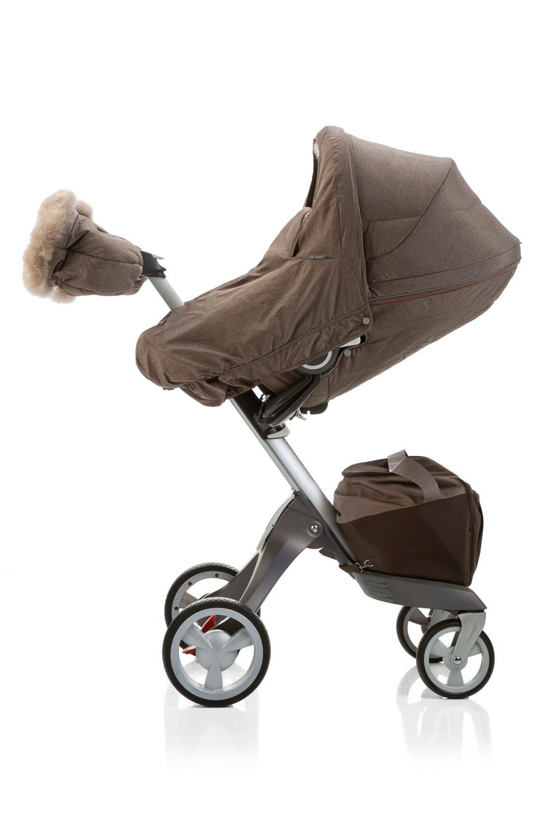 Stroller Winter Kit,                             Alternate thumbnail 3, color,                             Nougat Melange