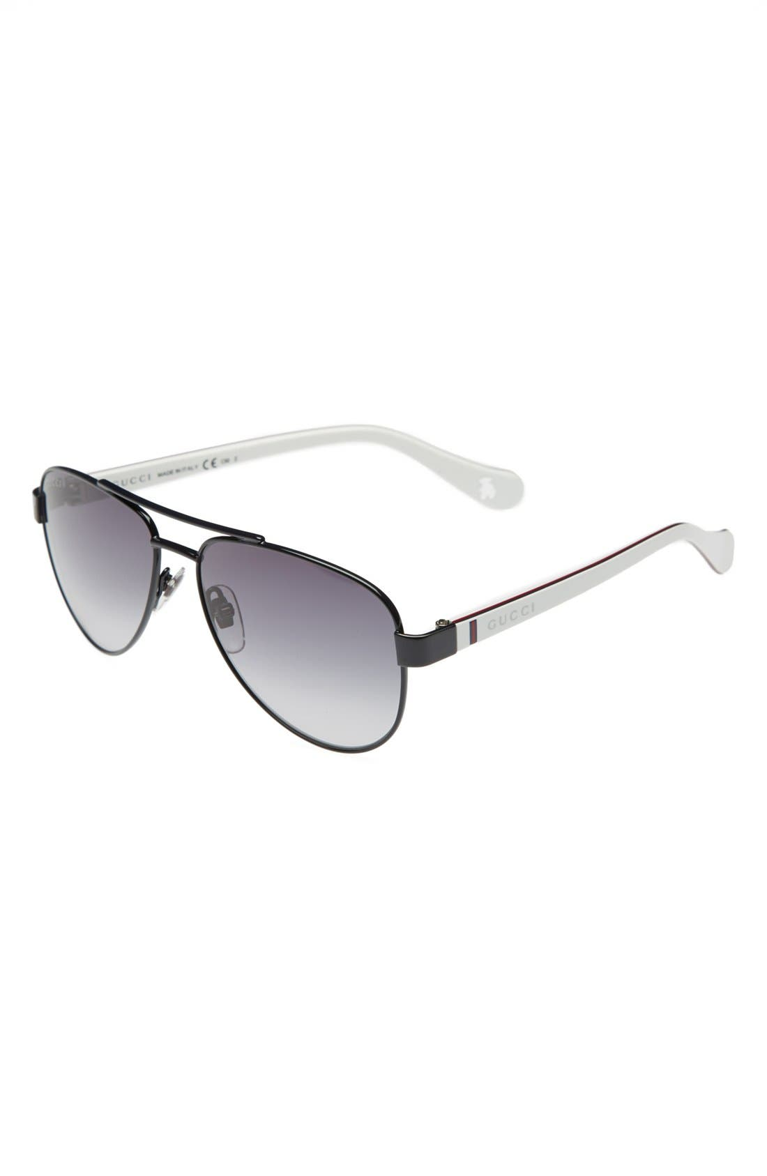 Alternate Image 1 Selected - Gucci 51mm Aviator Sunglasses (Kids)