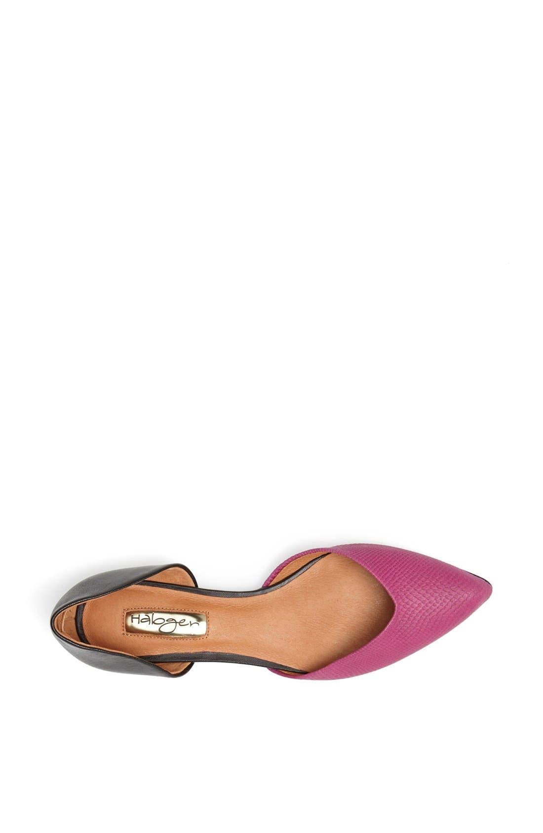 'Leta' d'Orsay Flat,                             Alternate thumbnail 3, color,                             Magenta/ Black Nappa