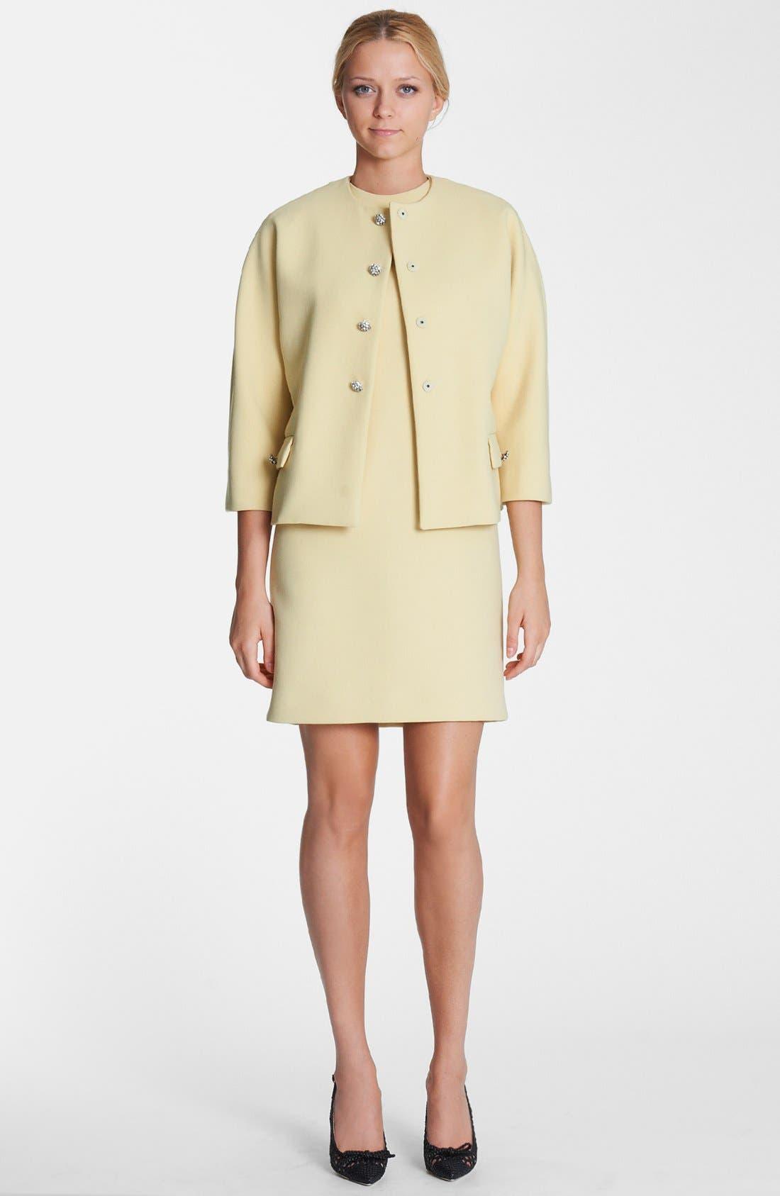 Alternate Image 3  - Dolce&Gabbana Crystal Button Crepe Jacket