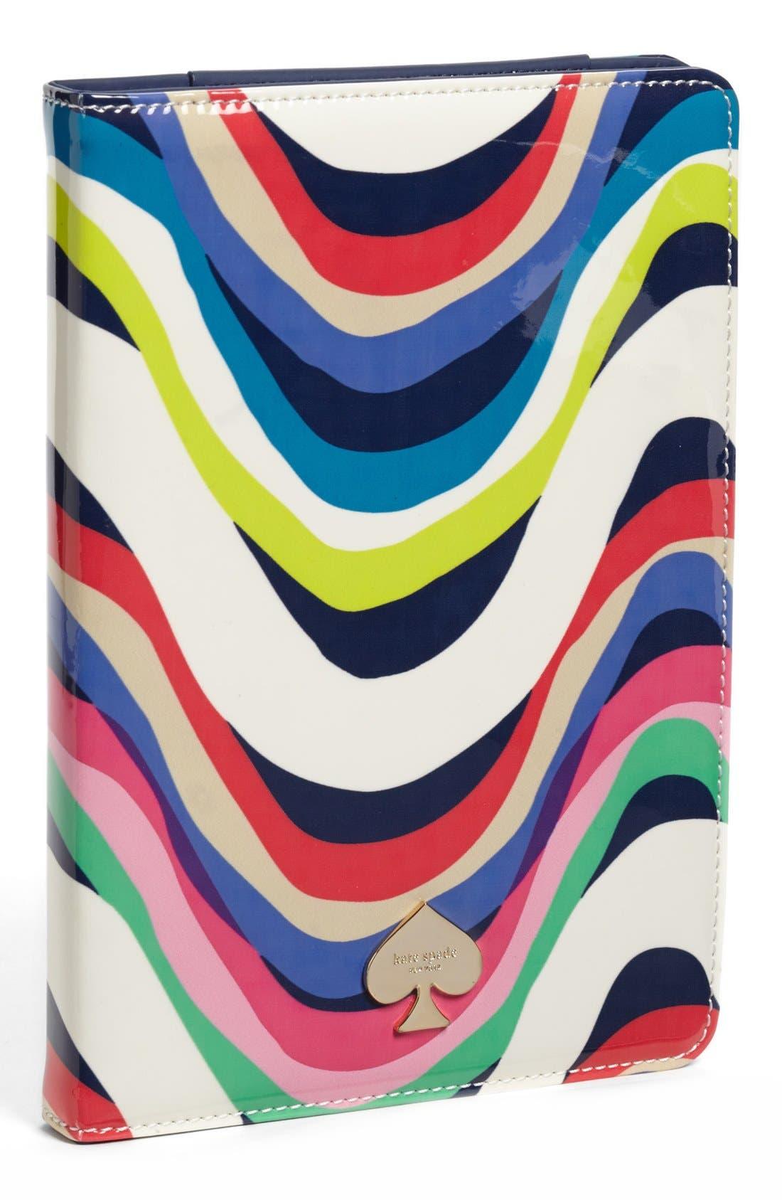 Alternate Image 1 Selected - kate spade new york 'brighton wave' iPad mini folio