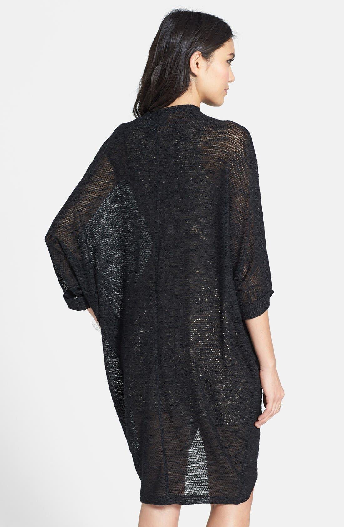 Alternate Image 2  - Madison & Berkeley Long Sheer Knit Cardigan