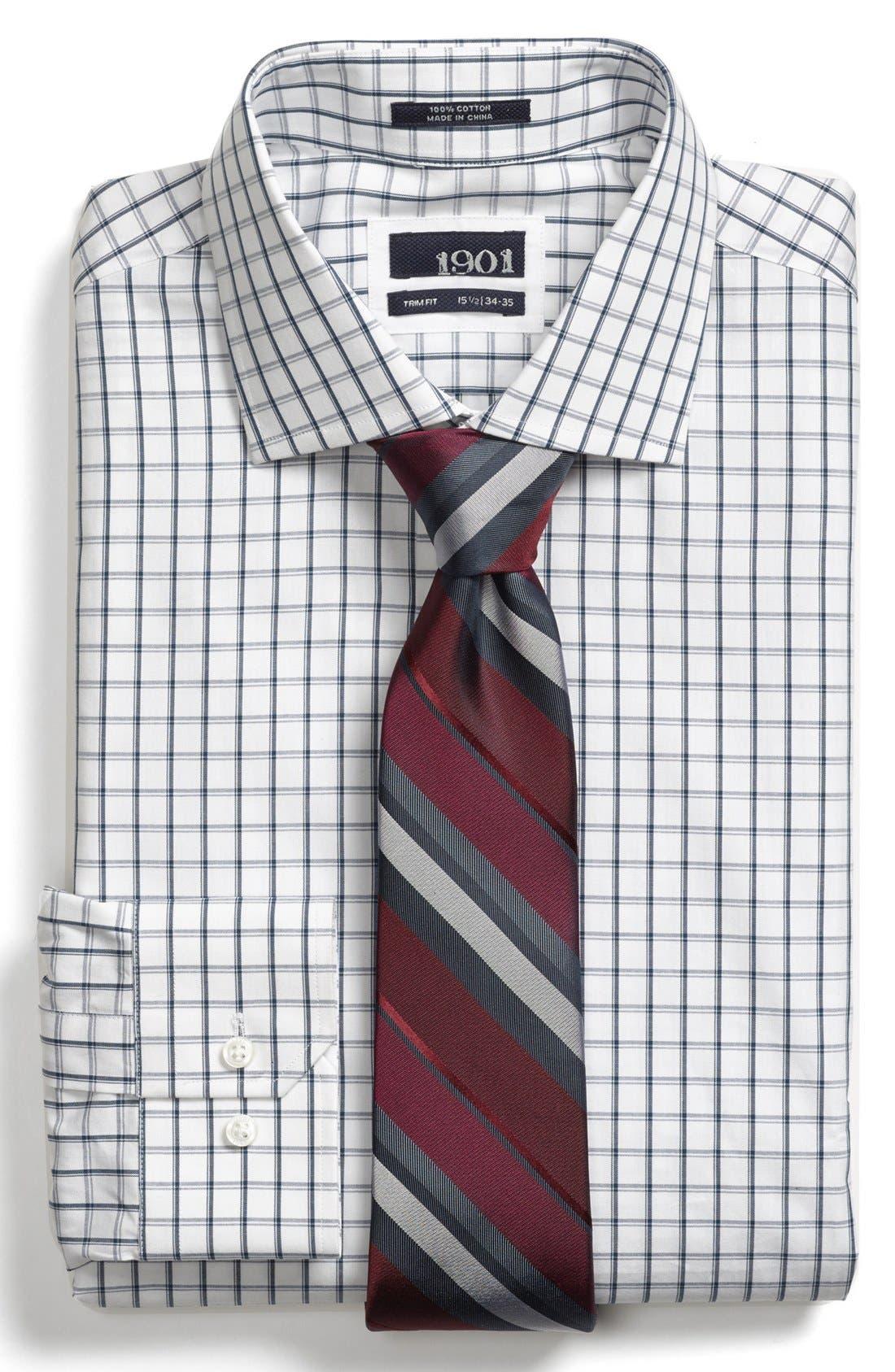 Main Image - 1901 Trim Fit Check Dress Shirt