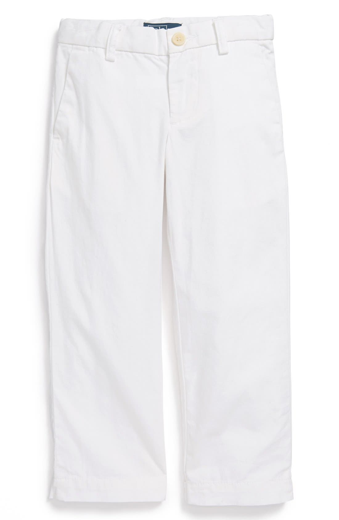 Alternate Image 1 Selected - Ralph Lauren Straight Leg Pants (Toddler Boys)