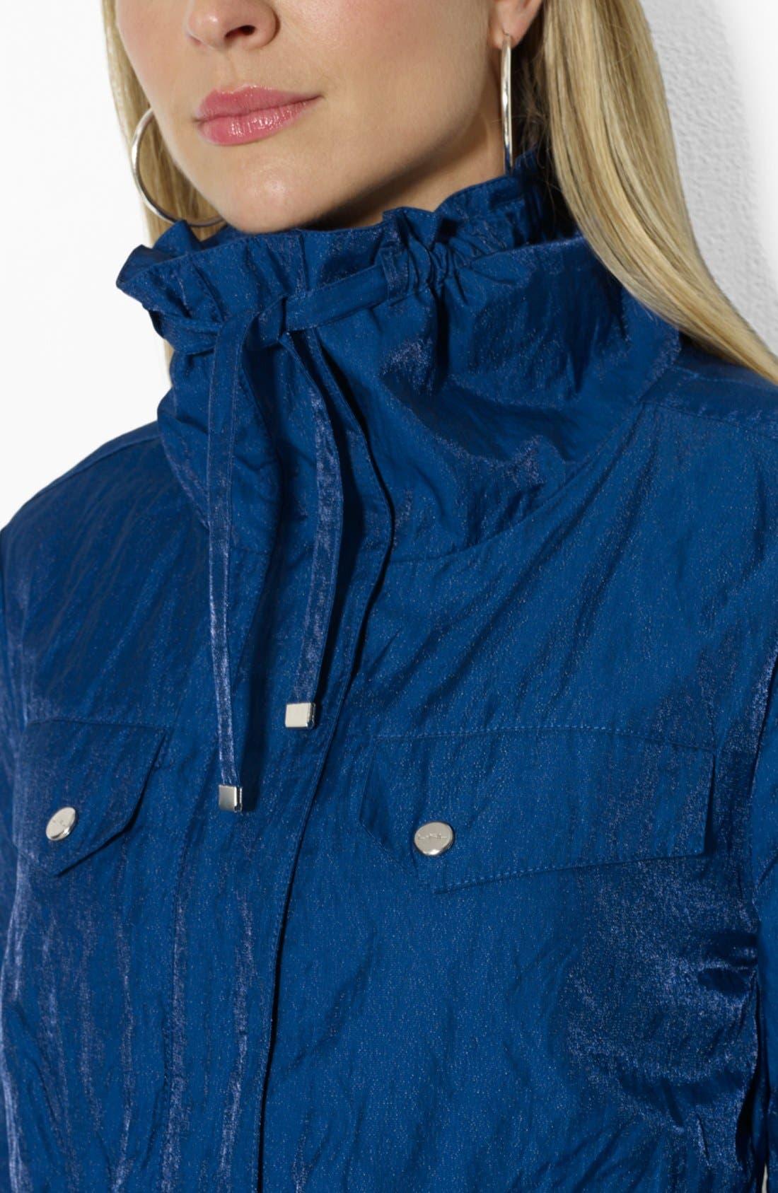 Alternate Image 3  - Lauren Ralph Lauren Metallic Convertible Collar Anorak