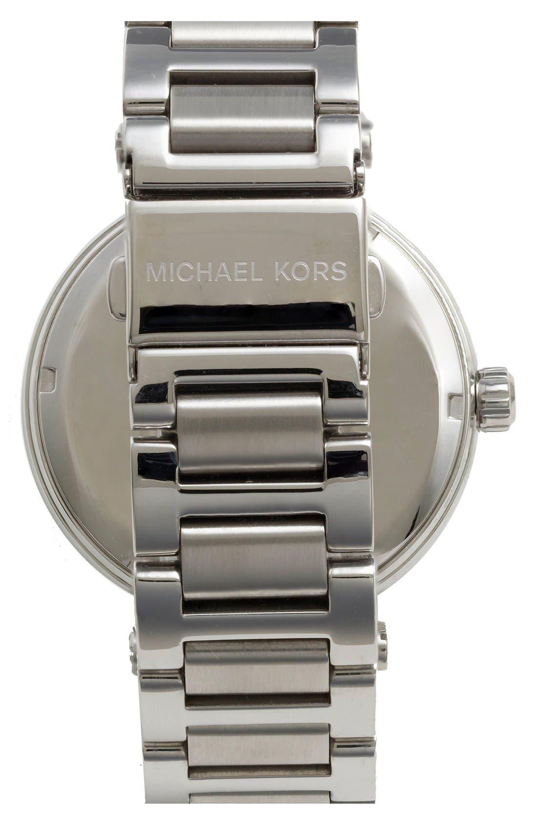Alternate Image 2  - Michael Kors 'Skylar' Crystal Bezel Bracelet Watch, 42mm
