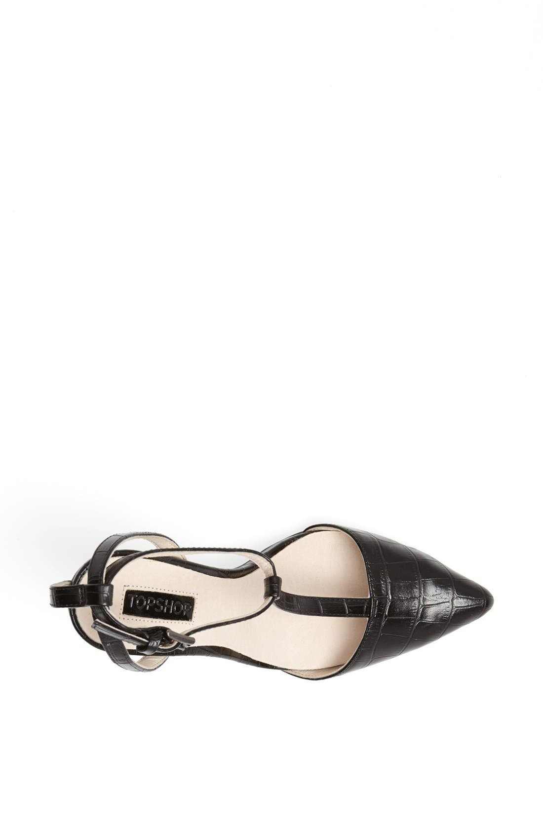 Alternate Image 3  - Topshop 'Ghost' T-Strap Pump