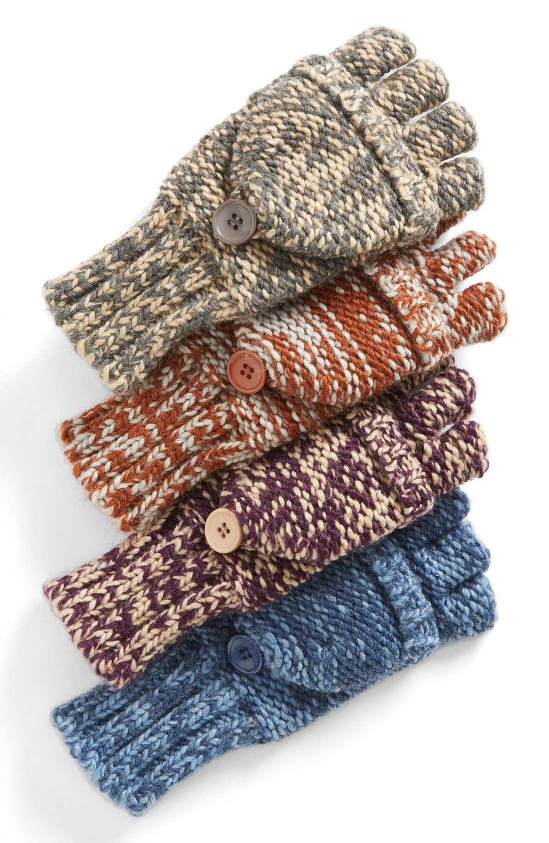 Marled 'Pop Top' Gloves,                             Alternate thumbnail 2, color,                             Classic Camel Heather