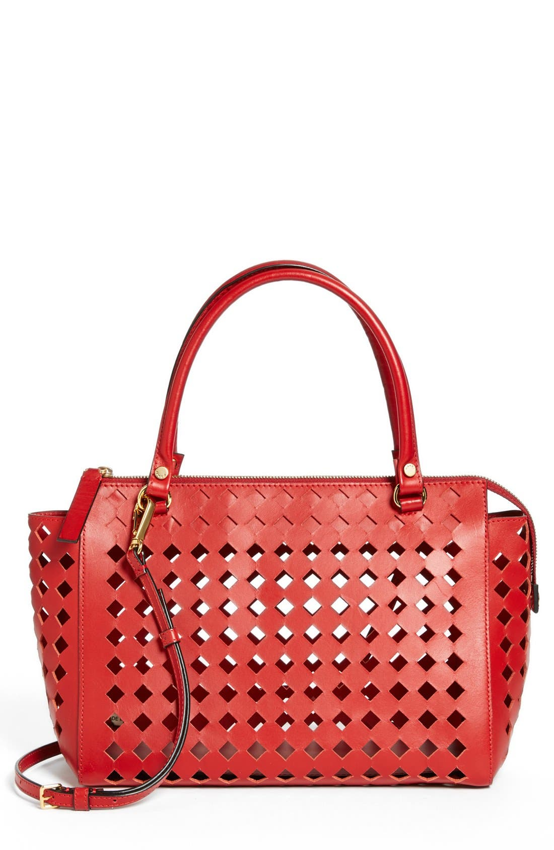 Alternate Image 1 Selected - Marni Diamond Perforated Leather Crossbody Satchel