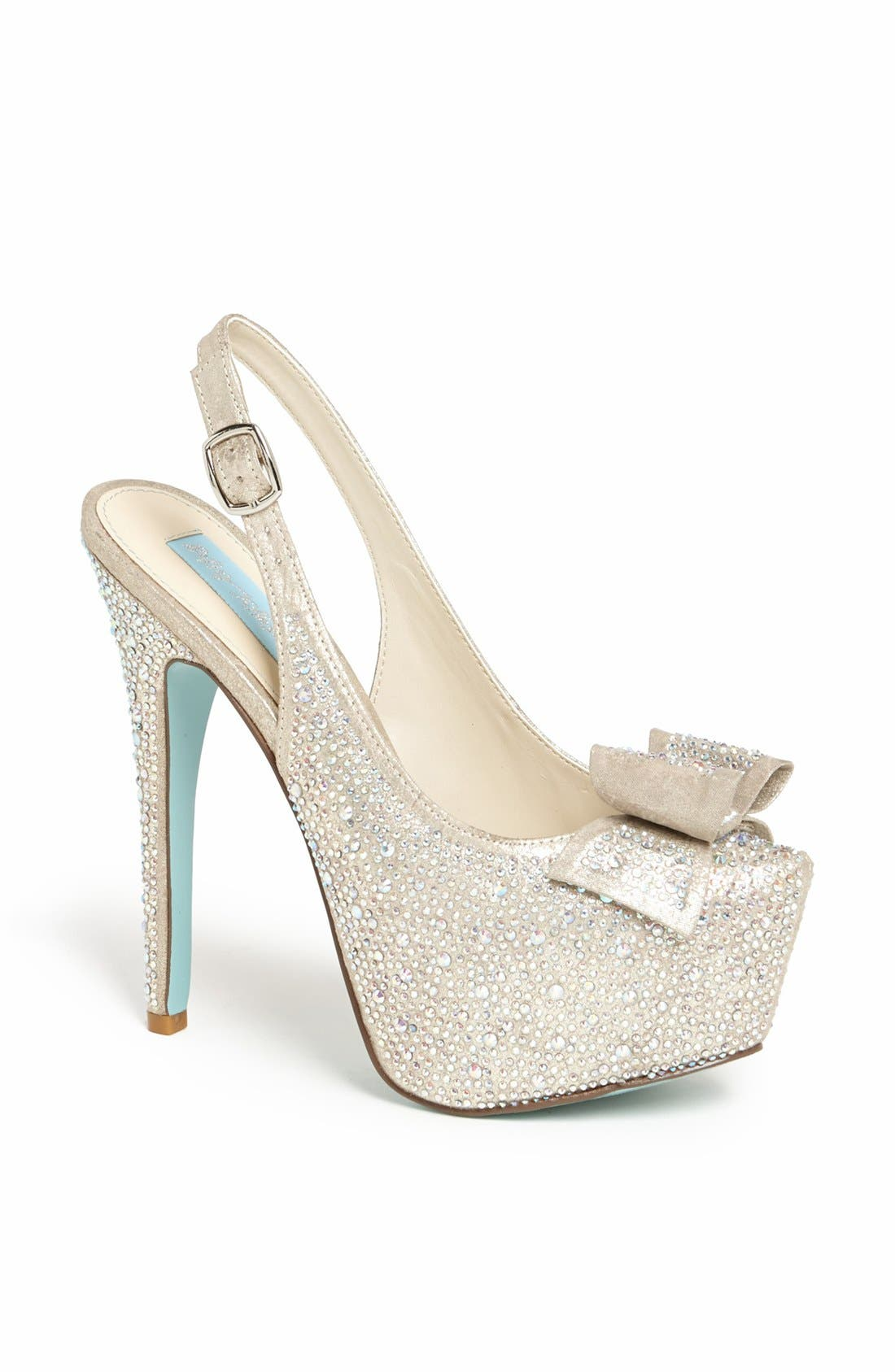 Alternate Image 1 Selected - Blue by Betsey Johnson 'Toast' Pump
