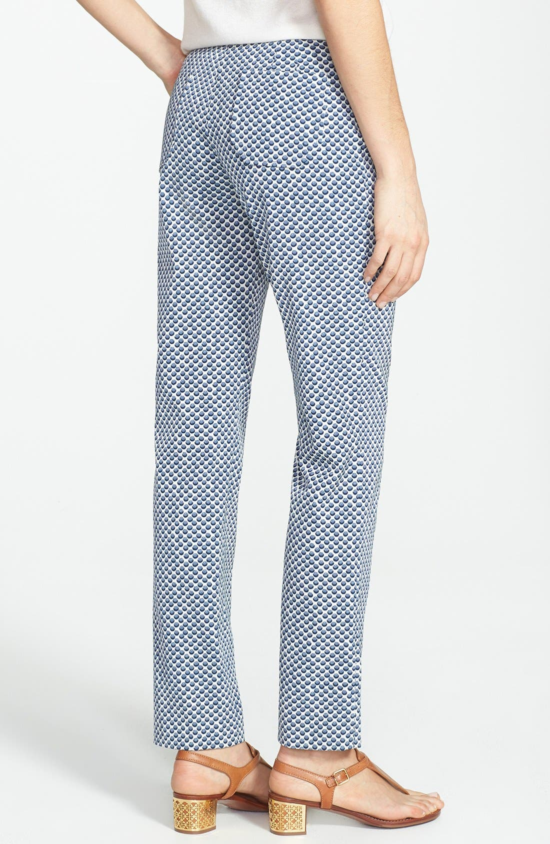 Alternate Image 2  - Tory Burch 'Ruth' Dot Jacquard Ankle Pants
