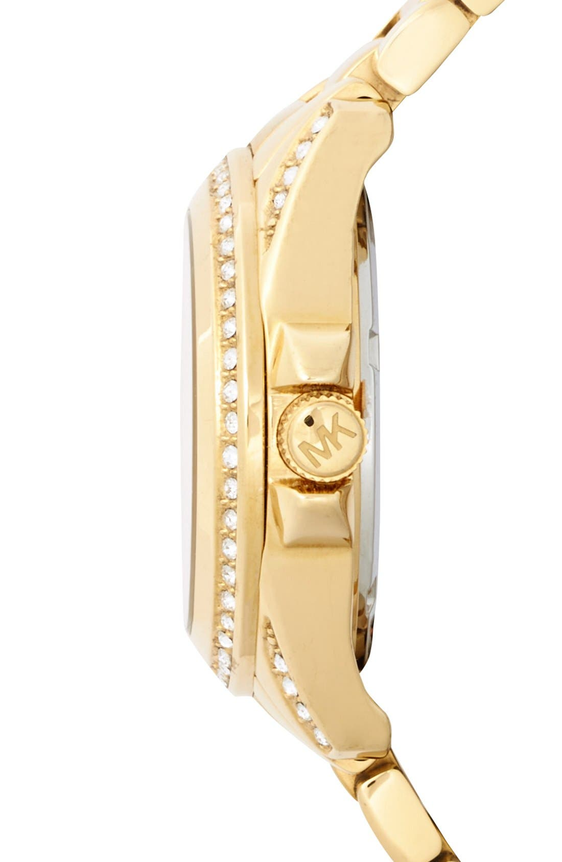 Alternate Image 3  - Michael Kors 'Mini Camille' Pavé Bezel Bracelet Watch, 26mm