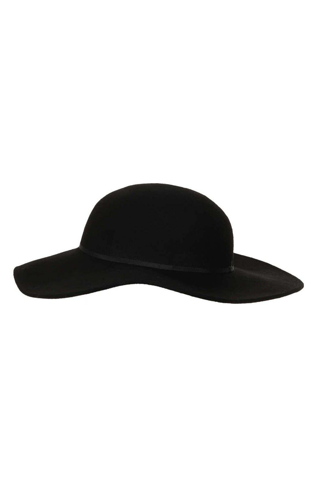 Floppy Wool Felt Hat,                         Main,                         color, Black